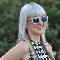 Free shipping Skateboard Wooden Sunglasses Polarized UV Protect Revo Lens Nature Real Wooden Frame New Design Glasses (WB31)