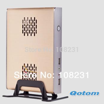 free shipping fanless mini pc 12v,QOTOM-T30 Intel Celeron 1037U Dual-Core 1.8GHz,mini pc server with celeron 1037u,small mini pc