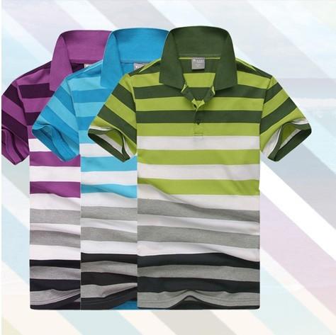 diamond Supplier striped mens t shirts fashion 2013 short sleeves designer plus size M- XXL 3XL male casual tshirts clothing(China (Mainland))