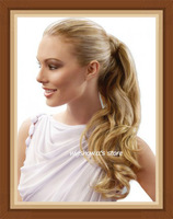 Custom Color Long big wave Wrap Around 100%  Remy  Hair Ponytail--Free Shipping