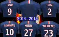 2013/14 Paris Saint Germain Home/Away Uniform,Ibrahimovic,Cavani,Silva Kit PSG Soccer Jersey For Free Shipping!