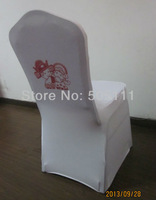 Free shipping white lycra chair cover with LOGO ( white )
