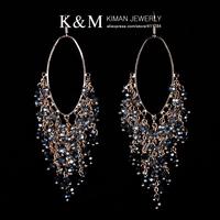 (Min order is $10) New  Arrivial Luxurious handmade Crystal Earrings for Women EA-03143