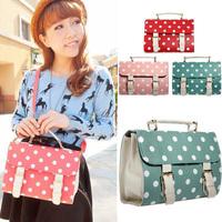 Free Shipping 2015 women's bags polka dot cute small gentlewomen bag candy handbag cross-body ladies handbag leather-bag