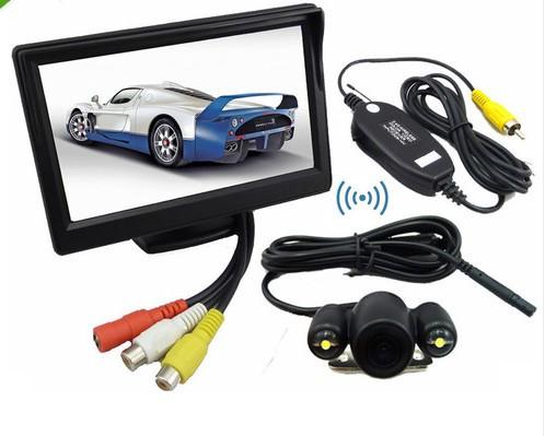 "2013 new hot best price 5"" TFT LCD Car Rear View Monitor + 2.4G Wireless Car backup Camera Night Vision FREESHIPPING(China (Mainland))"