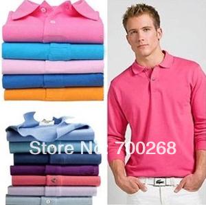 Camisa Polo Shirts Famous Brand Embroidery Logo Long Sleeve Slim Desigual Tops Fashion Shirt M L XL XXL Free Shipping (J-42#)