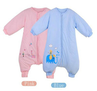 Free Shipping! New 2013 Cotton Spring-Autumn and Winter Warm Thickened Sub-foot Baby Sleeping Bag Baby Bodysuits 5013