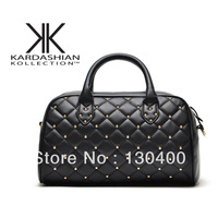 Kardashian women's handbags One shoulder handbag kardashian kollection sewing thread rivets BOSS  *0146