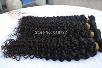 "3 Bundles Malay-sian Vir-gin Curly Hair Weft 12""-30"" hu-man hair extension weave free shipping"