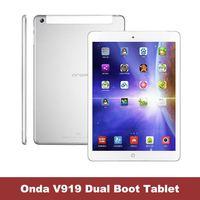 ONDA V919 Dual Boot  3G Air Win8 Quad Core 2GB RAM 64GB ROM IPS Intel Z3736F PC  Android 4.4 GPS