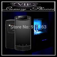 Best Top Quality Luxury Phones Ti Touch Titanium Pure Black Sapphire Crystal  Scratch Resistance ScreenLuxury SmartPhone