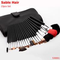 Professional SABLE HAIR Makeup Brushes 23 pcs/set High Quality Makeup Tools Kit Free Shipping