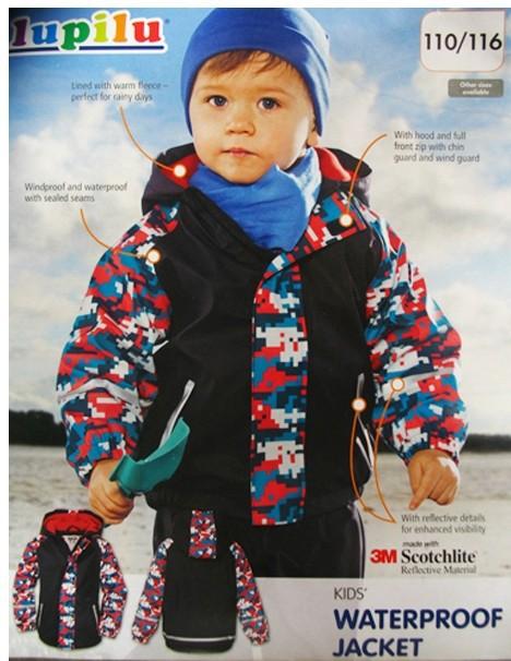 German exports LUPILU Topolino the 3M brand fleece fabric leather coat Free Shipping children raincoat children(China (Mainland))