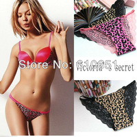 FREE shipping Sexy women briefs Victoria panties for women sexy style lace briefs women leopard underwear women sexy intimates