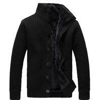 BIG SIZE MEN  autumn winter  Add wool Coat The 2013 best quality men's knit  trench  men  coat fashion  clothes jacket  6xl