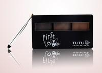 1 set,TUTU 3 Color Eyebrow Powder Carry With Eeybrow brush, High Quanlity Women Makeup Waterproof Free Shipping