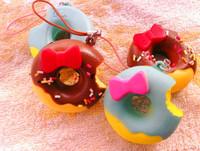 New Arrival 4.5cm Kawaii Mini Squishies Bun Bag Charm Free Shipping Doughnut Rare Squishy Bread Donut/Mobile Phone Straps