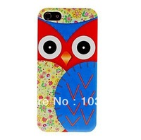 Free shipping Big Owl Pattern Hard Case Cover for iPhone 5/5S