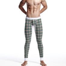 SEOBEAN Mens Low Rise Sexy Thermal Boxer Underwear Pants Long John  XB065(China (Mainland))