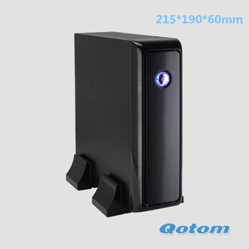 free shipping mini pc windows 7 QOTOM-I35CT CPU AMD APU Zacate E-350D Dual-Core 1.6GHz,HDMI/VGA/DVI,2GB DDR3 RAM,8GB SSD