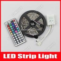 RGB Led Strip 5050 No Waterproof 60 Leds /m 5M 300 LED Fita de LED Light Luminaria Luz 12V Car Home Lamps +44 Key Remote Control