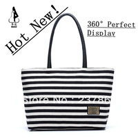 SALE Women's Hand Bag 2013 Navy Style Stripe Bag Canvas Bag