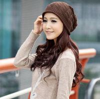 Hot Selling  1pcs 2013 New Women Warm Beanie Women Winter Knitted Hat Fashion Designer Girls Autumn Hats  Free Shipping