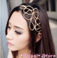 Min order $10 Hot new fashion 2014 European style Openwork ribbon gold corn Hairbands head hoop hair accessories for women