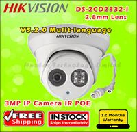 Hikvision outdoor ip camera, DS-2CD2332-I with 2.8mm  Network Kamera ip, 3MP dome Camera w/POE & 3D DNR, Full HD1080p real-time