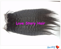 "Love Story 10-20 inch kinky straight Unprocessed Virgin Peruvian Hair Lace Closure 5""*5"""