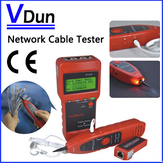 Multipurpose LCD Display Network LAN Cable Length Tester / Cable Continuity Tester/ inspection Wire Tracker Tester,NF8208(China (Mainland))
