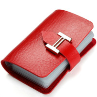 Multifunction Man And Women Id Holder Fashion Mini Card & ID Holders Red ID card holder Business Card Holder