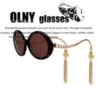 House of holland 2013 fashion tops tassel chain Sunglasses female women Brand Designer wholesale oculos de sol 69113