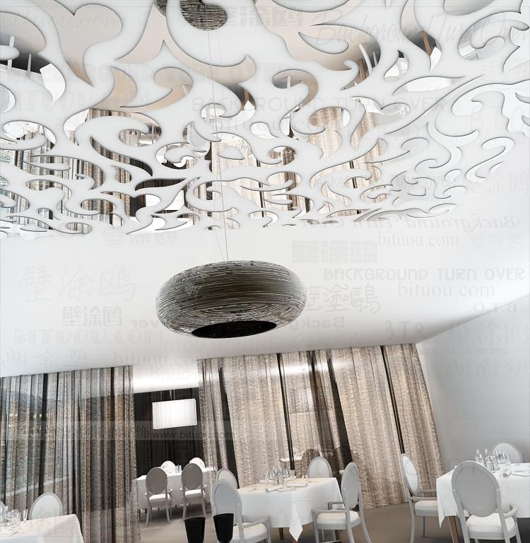 236 plafond spiegel muursticker home decor kunst sticker kerst papel