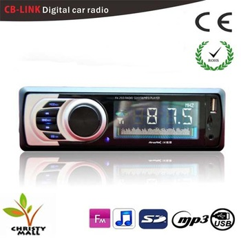 Free shipping car radio fm mp3 player sd slot with USB / CB-LINK phone function car audio player with remote control