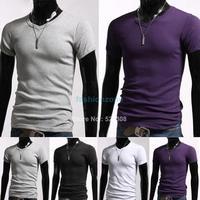8pcs/Lot Fashion Tees,Men Shirt,Mens Short Sleeve T-shirts,Top Brand Men's Shirts Size S/M/L/XL 3324