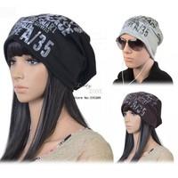 2013 New Fashion Letter printed Winter Men's/Women's Unisex Warm Beanie Hat Baggy Slouchy Cap 18498