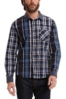TWO COLOURS Desigual Lenador 38C1216 long sleeve brand casual cotton plaid men shirt M L XL XXL XXXL FREE SHIPPING