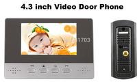 4.3 inch Color Video Door Phone handfree Video Intercom system with waterproof Pinhole Camera door monitor
