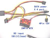 Free Shipping   200W high power 24pin PicoPSU ATX mini-ITX DC ATX power supply with 16V-24VDC wide range input