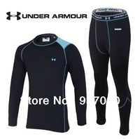 2013 winter menp's Brand Sports Quick-drying thermal underwear suit Outdoor fleece warm thermal underwear for men FREE SHIPPING
