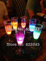 12 pcs Liquid active Plastic LED Champagne Glass,light up Plastic LED Flash Champagne Glass,LED Flash glass LED Cup for party