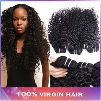 Cheap Malaysian Deep Wave Curly Hair Bundles 4pcs lot Unprocessed Malaysian Human Hair Weaves Modern Show Hair Natural Black 1b
