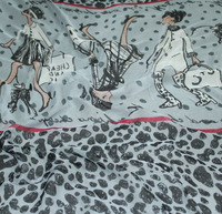 Printed silk georgette 8m/m/Width-114cm/100% pure mulberry silk fabric/High quality fabrics for sewing/3 meters/lot