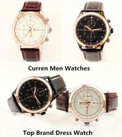 Free Drop shipping New Relojes Top Brand Clock luxury CURREN Men Dress Watch Japan Quartz waterproof Sport Leather Wristwatches