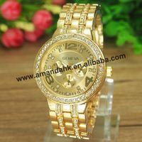 50pcs/lot,Geneva Analog Watch On Sale Steel WristWatches Women Rhinestone Dress Watches Geneva Casual Ladies Quartz Watches