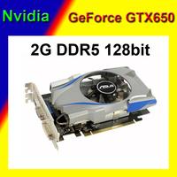 Hot selling NVIDIA GeForce GTX650 video card nvidia graphics card VGA card 2G DDR5 128bit 1 year warranty drop/free shipping