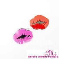 Simple Cute Sexy Lips Neon Acrylic Stud Earrings