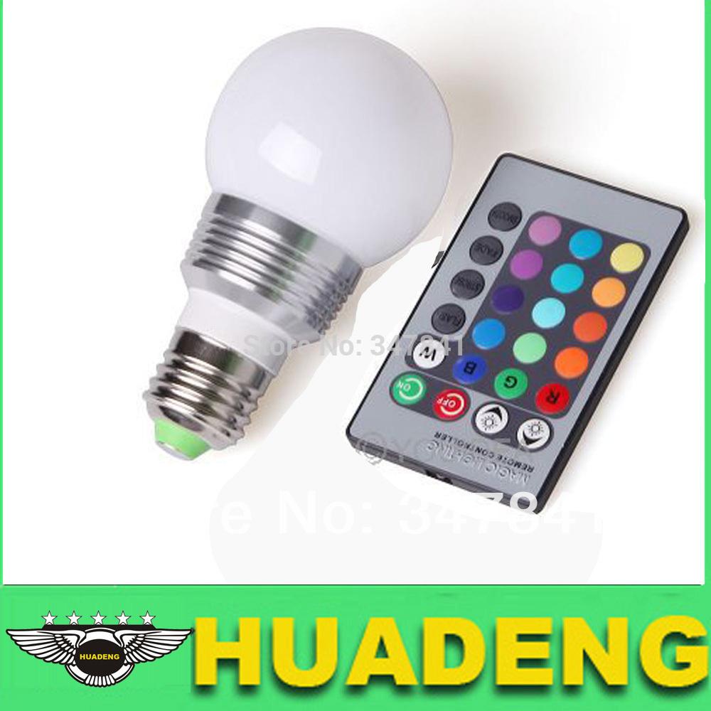 Светодиодная лампа HuaDeng E27 RGB 3W 16 + 24 светильник ночник детский эра nled 401 bu мишка