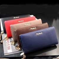 Free Shipping Hot Selling High Quality Women's Long Design Wallet zipper Horizontal Handbag Purse Clutch Bag